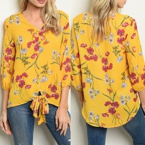 Yellow Floral Top {Lake Flower}